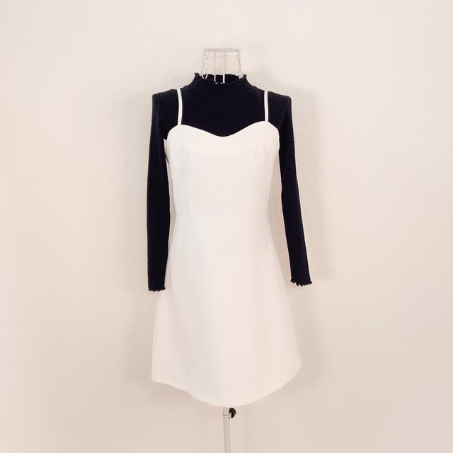 colour camisole OP(white)