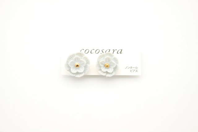 有田焼ノンホールピアス flower 28