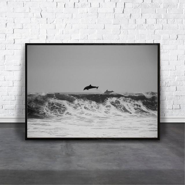 アートポスター Dolphinデザイン