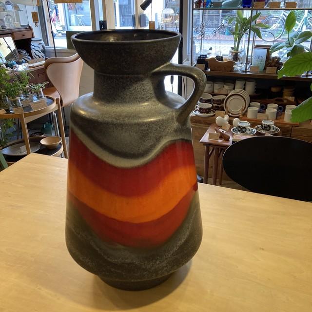 西ドイツ Dumler & Breiden vintage fat lava vase 壺 Φ300×H520mm