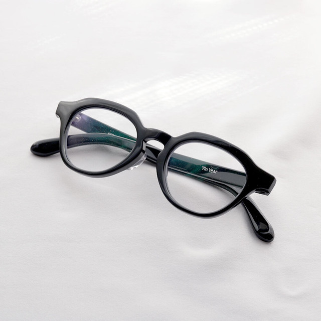 YY - 5 19 / high-bridge glasses (black lens)