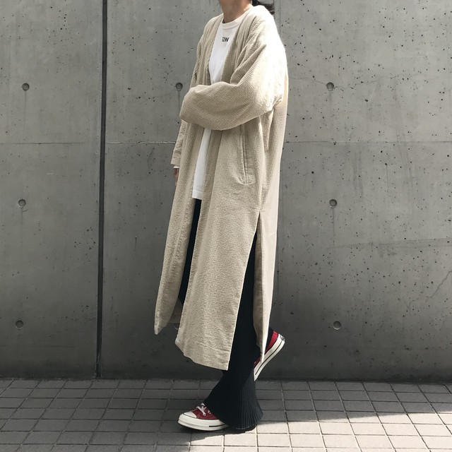 unscrum コーデュロイロングコート IVRY【19AW】