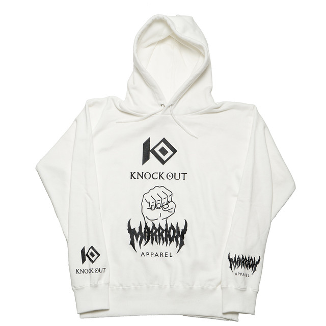 KNOCKOUT×MARRIONAPPAREL   Hoodie (White×Black)