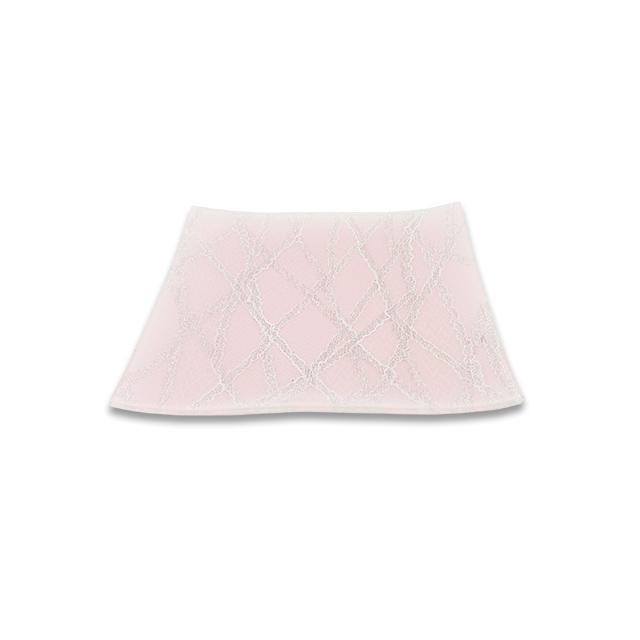 ガラストレー #82528MS ピンク (15cm 角皿)