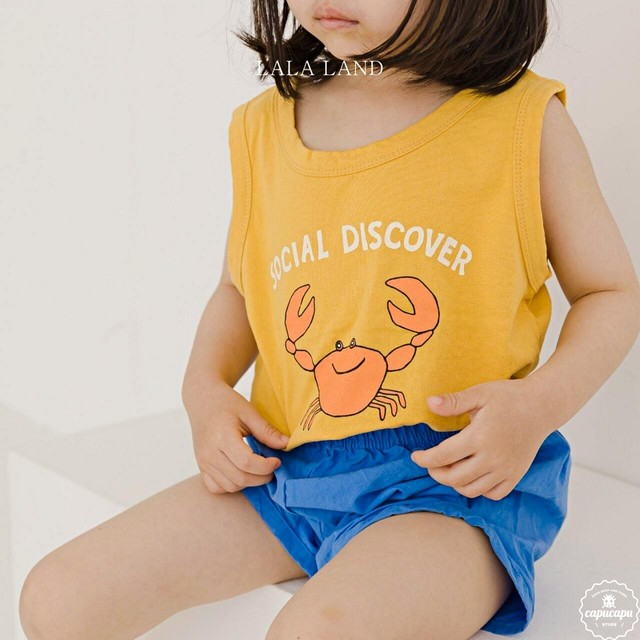 «sold out» LALA LAND crab sleeveless 2colors カニノースリーブ