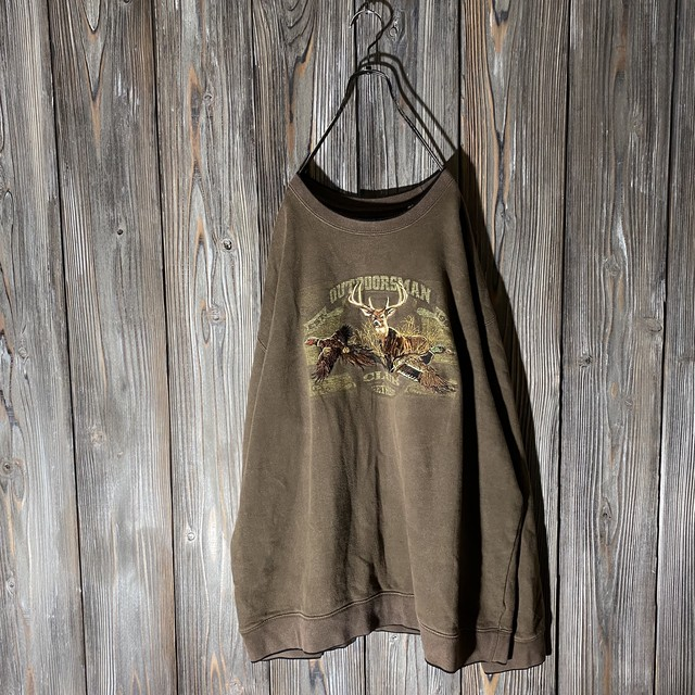 [used]outdoorsman animal embroidery sweat