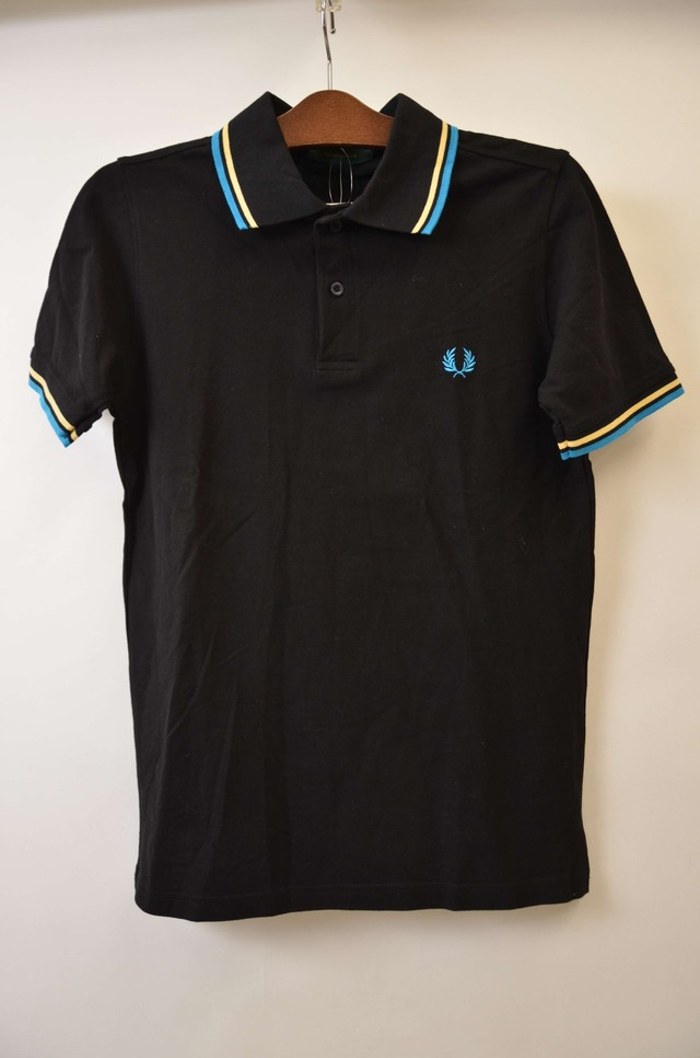 【Sサイズ】 FRED PERRY フレッドペリー ONE POINT POLO ポロシャツ BLACK 400603190712