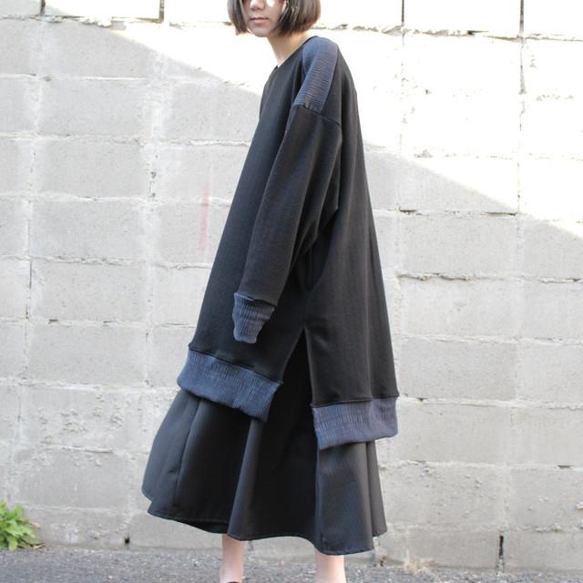 Long-slit-Sleeve-dress (black)