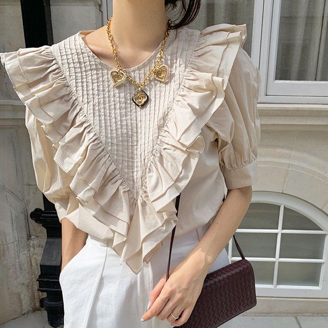 Big collar blouse  KRE907