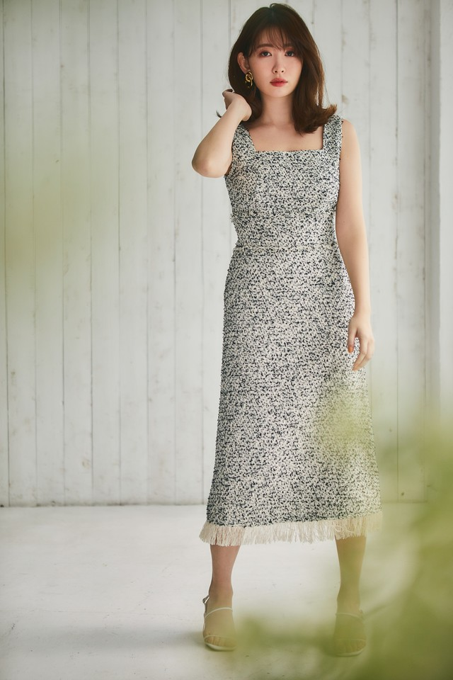 Cotton-blend Tweed Dress