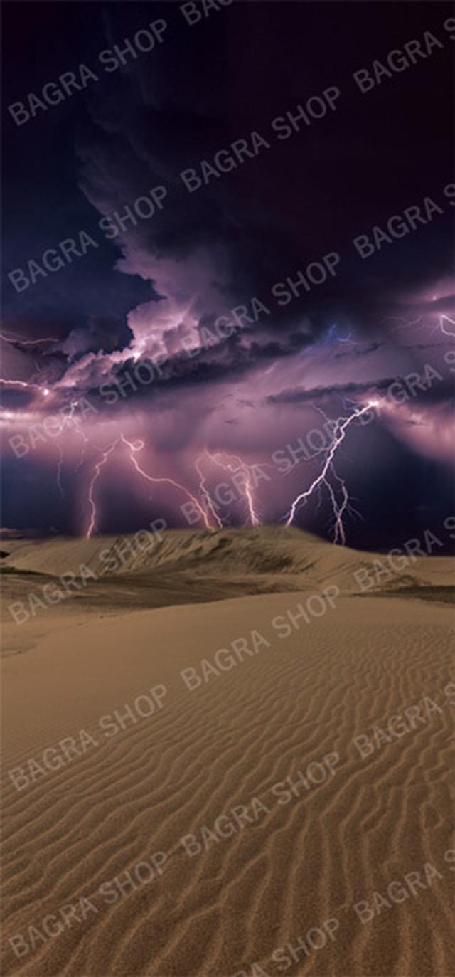 【背景紙】雷雲と砂漠(スタンダードサイズ/15cmフィギュア向け)
