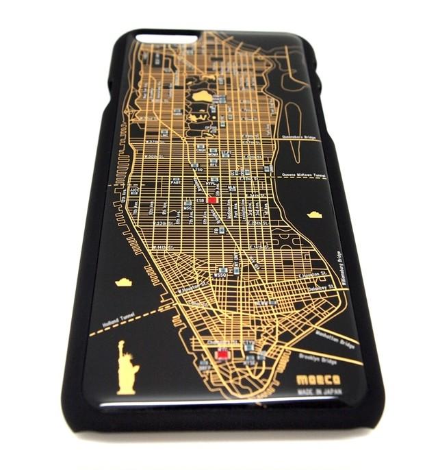 NY回路地図 iPhone6/6s  ケース 黒【LEDは光りません】【東京回路線図A5クリアファイルをプレゼント】