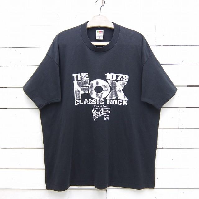 1990's FRUIT OF THE LOOM フルーツオブザルーム THE FOX CLASSIC ROCK プリントTシャツ ブラック メンズ 2XLサイズ MADE IN USA