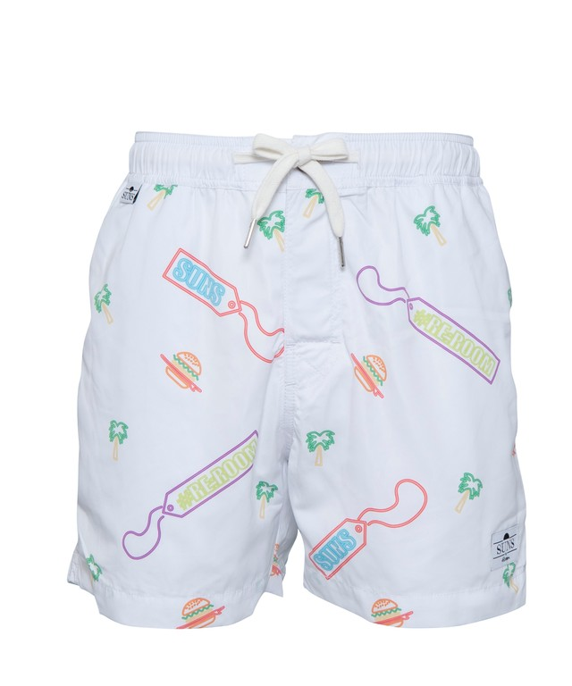 SUNS NEON PATTERN SWIM SHORTS[RSW026]