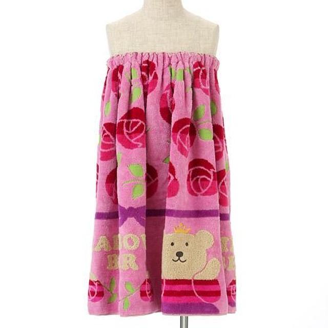 【RAINBOW BEAR レインボーベアー】 <バスタオル>ローズ姫・ピンク
