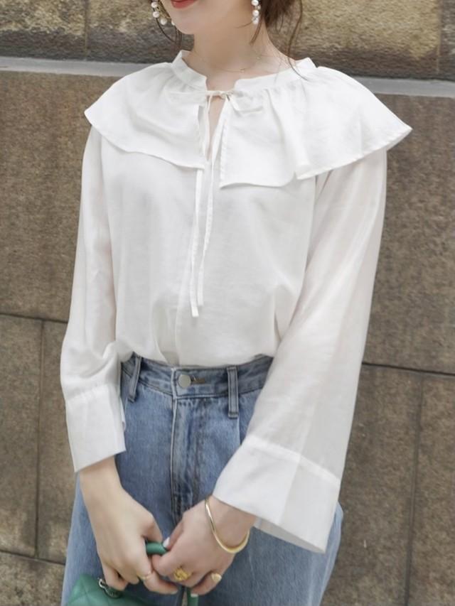 【予約】frill collar blouse / white (8月上旬発送予定)