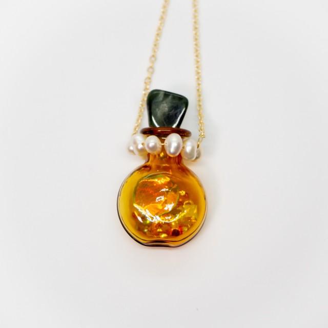 おもちゃの香水瓶ネックレス 金色 013