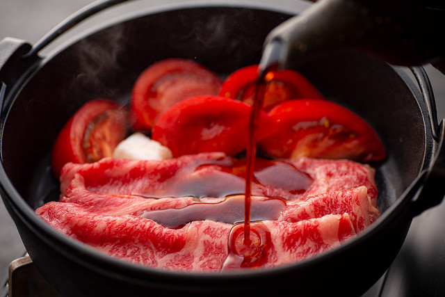 夏の完熟トマト上すき焼き お肉500g /クール便