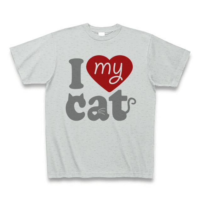 I love my cat -gray-