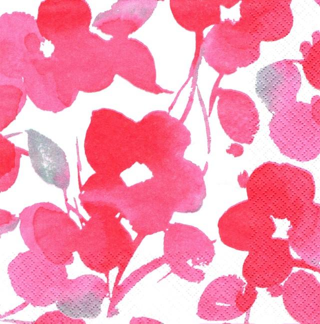 北欧【nanso】バラ売り1枚 ランチサイズ ペーパーナプキン MERITUULI ピンク