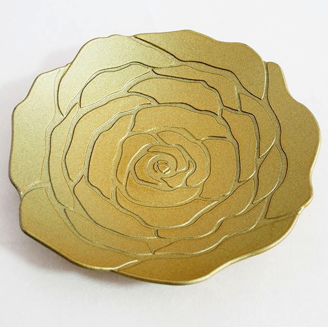 華皿 ぼたん 160mm ゴールド