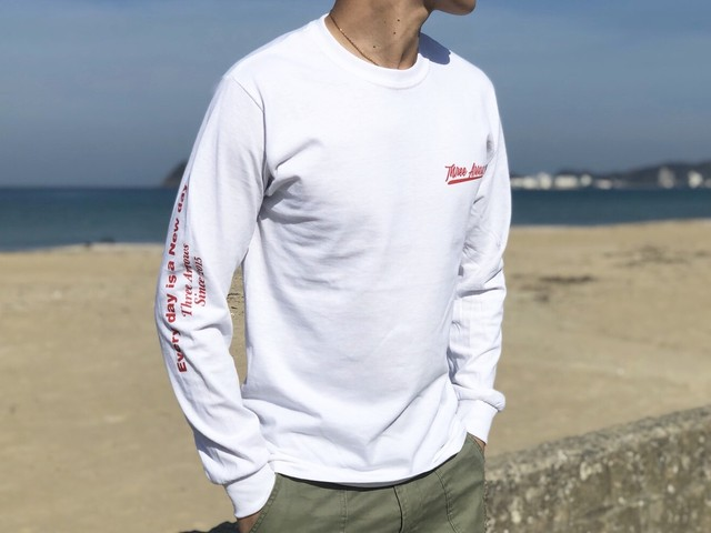 Right Message ロングTシャツ(white)