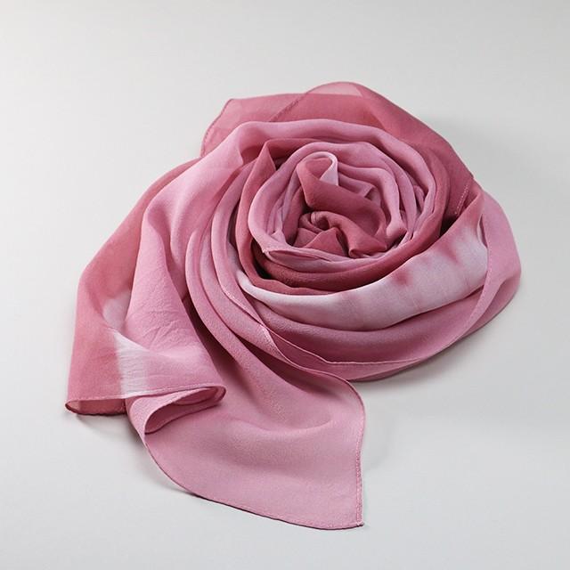 シルクシフォンブラウスL【ピンク】