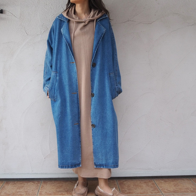 Denim Long Coat《IDG》19383102