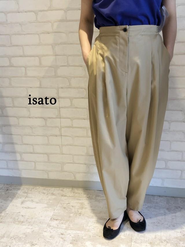 isato/IS-P-042B/ビッグシルエットパンツ(ベージュ)