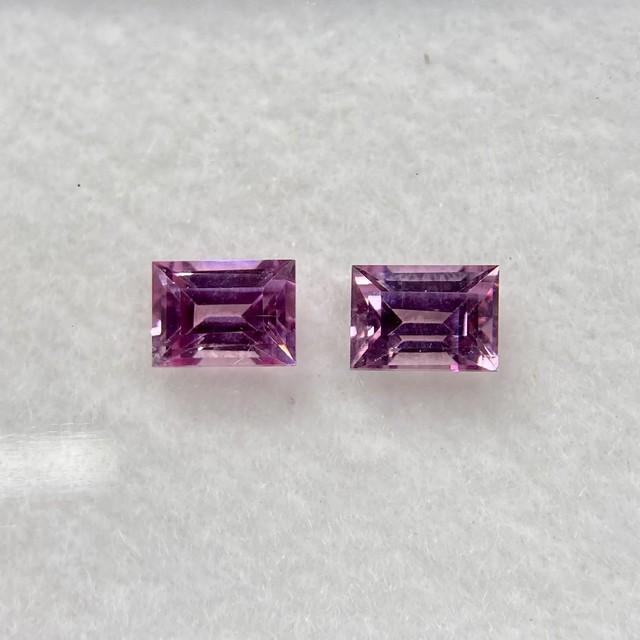 ピンク系 スピネル 長方形 約4mm*3mm No.BP2-1