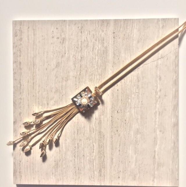 Natasha Gold Long Tassel Necklace