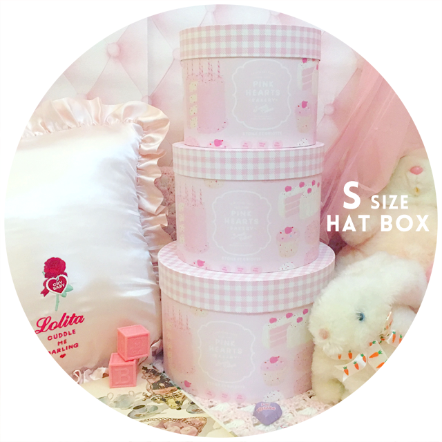 PINK HEARTS BAKERY Hat Box(S size)