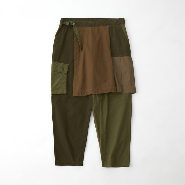 SKIRT CARGO PANTS - KHAKI
