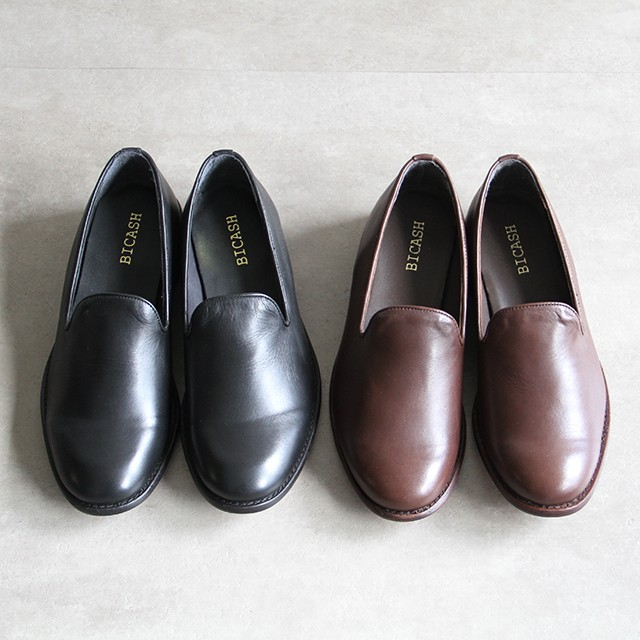 BICASH  【 mens 】crepe slip on