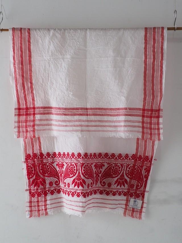 131sr206  assam towel  片端の模様