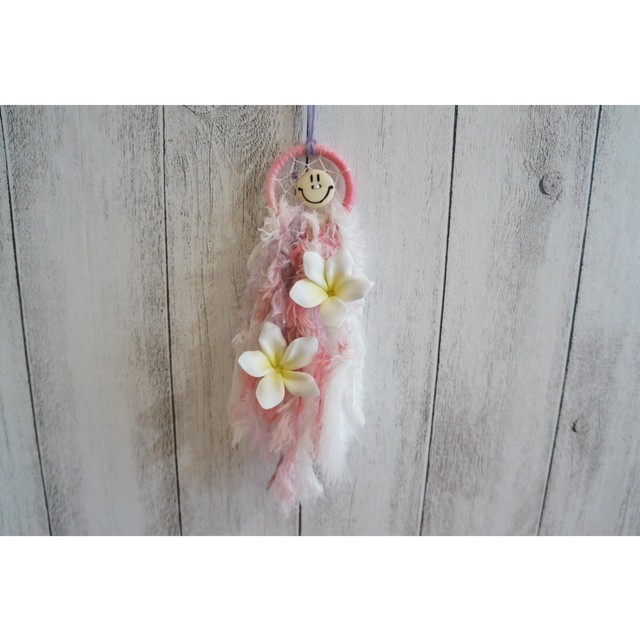 Plumeria Mini Dreamcatcher