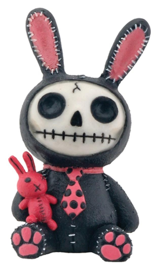 Furry Bones ファーリーボーンズ ウサギ 黒 YTC7845