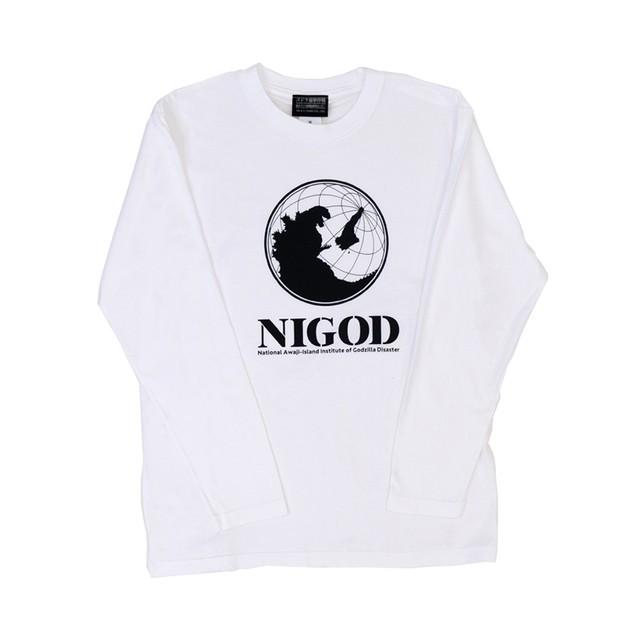 【ニジゲンノモリ限定商品】長袖Tシャツ(NIGOD)白 L