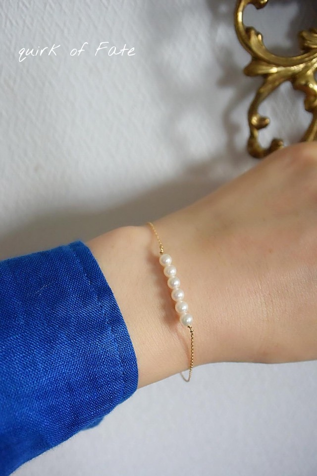 K18 Baby Akoya Pearl Bracelet 18金ベビーアコヤ真珠ブレスレット