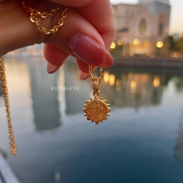 Sun God necklace 24Kコーティング