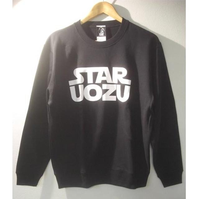STAR UOZU トレーナー ブラック×ホワイト