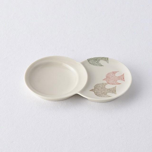 とり・赤 小分け豆皿