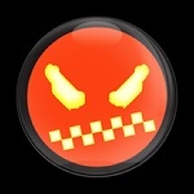 ゴーバッジ(ドーム)(CD0349 - Seasonal Halloween MINI Face 1) - メイン画像