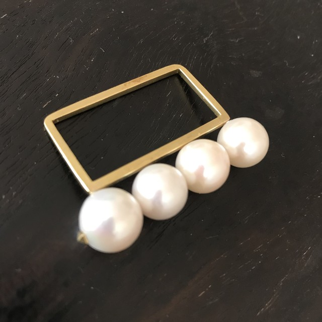 pearl ring  6(2finger用)PeR-6