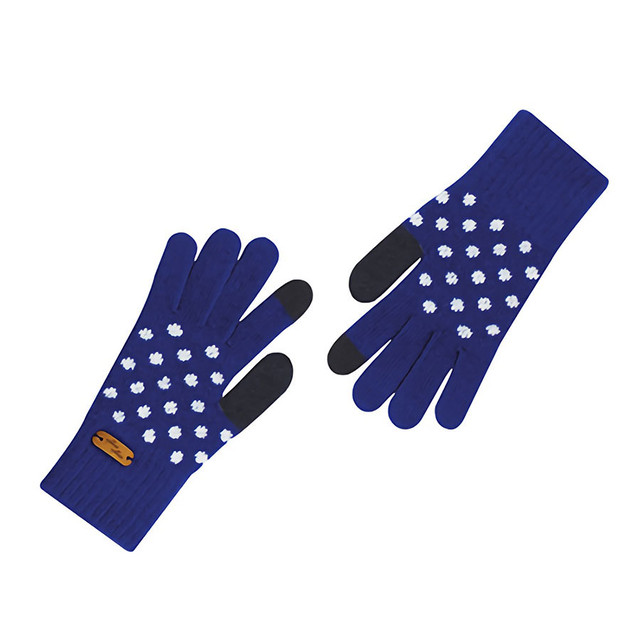 Touch screen gloves - Dancing Dot (BLUE)