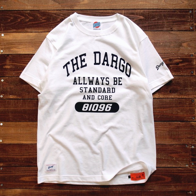 "【DARGO】""College Logo"" T-shirt (WHITE)"