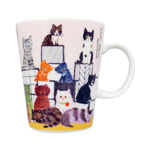猫マグカップ(エクートミネットスマートマグ)階段