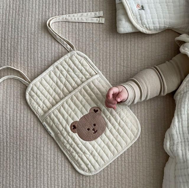 【即納】イブル 刺繍キルティング 小ポーチ ミニバック 韓国子供服