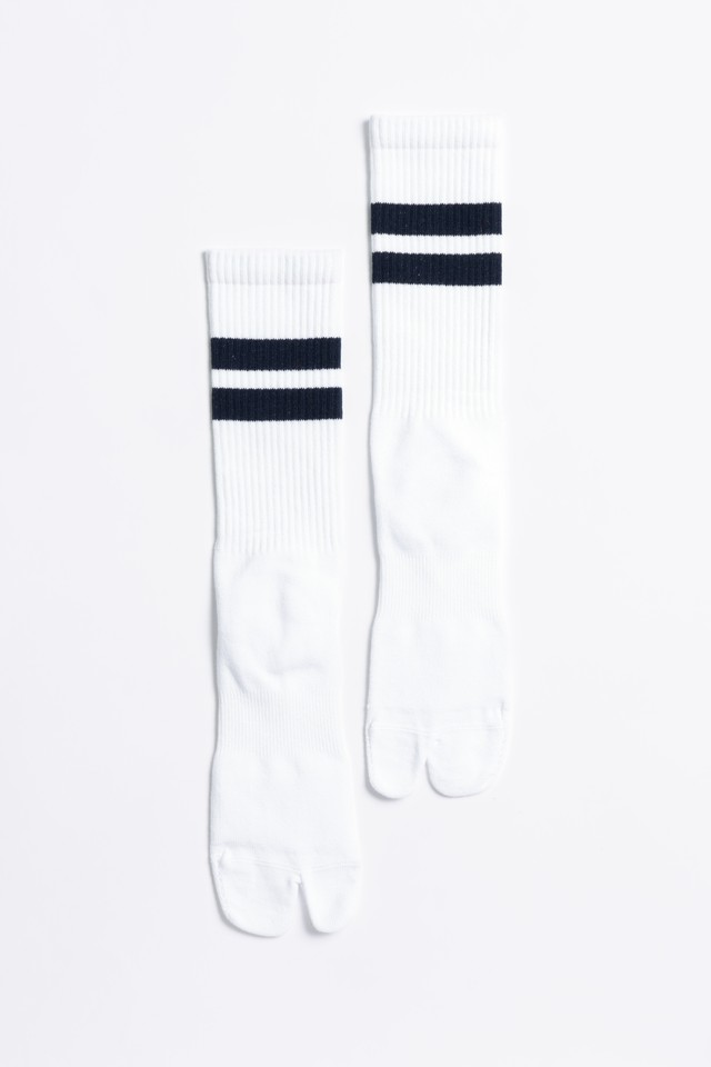 Signature Socks(White × Navy)