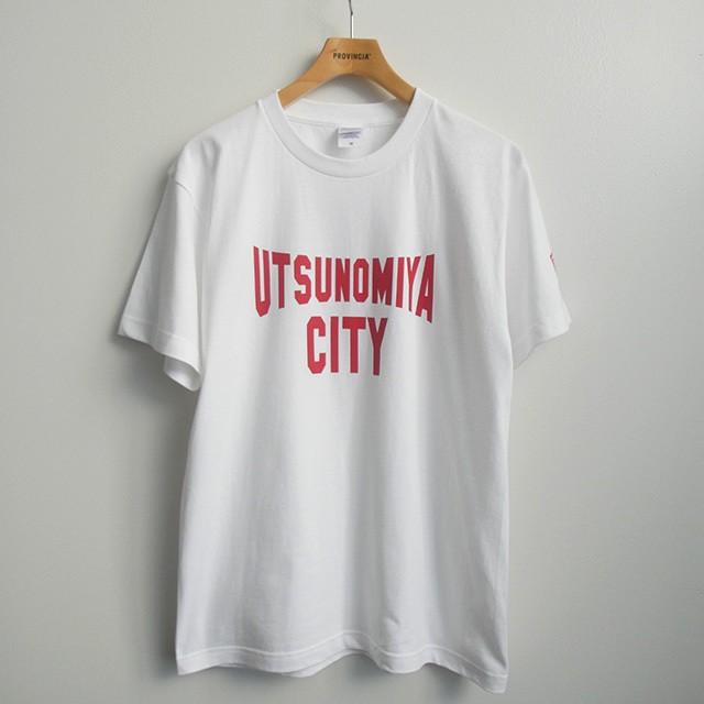 Tシャツ  UTSUNOMIYA CITY  ホワイト文字赤